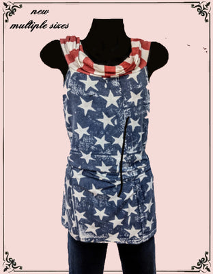 Stars and Stripes top - so cute!  Multiple sizes!