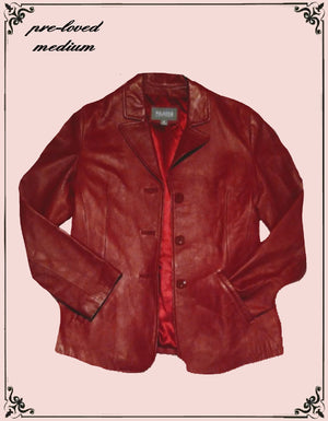 Wilson's beautiful red leather jacket size medium