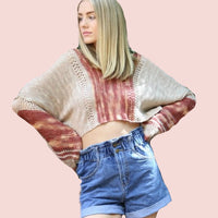 Angie top crop top- multiple sizes (p)