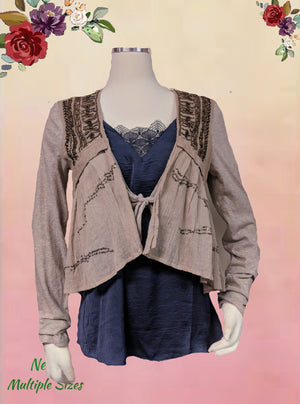 FRF Collection Zara - boho layering piece - size M .