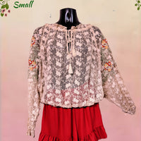 Free People beautiful lace top - sm