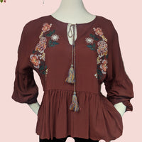 Chelsea and Violet beautiful embroidered top (b)