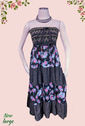 Mingle beautiful embroidered dress/top large