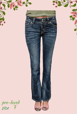 Miss Me jeans- beautiful!! size 7
