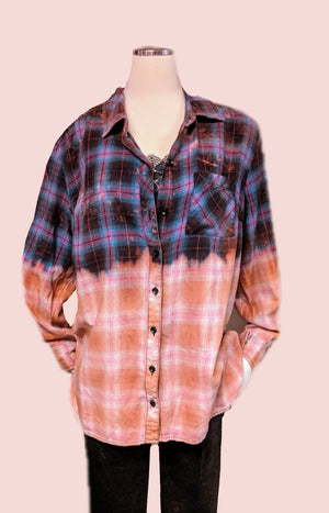 Faded Glory recycled flannel shirt 2X