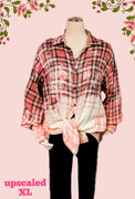 Cremeux recycled flannel top size XL