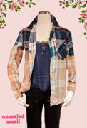 Old Navy recycled flannel top size small