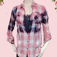 Passport recycled flannel shirt small
