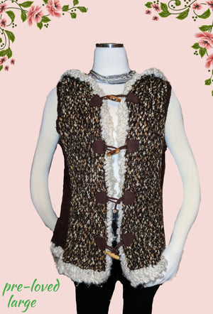 Curio vest  with hood -adorable - size large *""