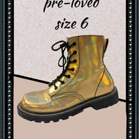 Gotta Flirt metallic gold boots - adorable - size 6 (b)