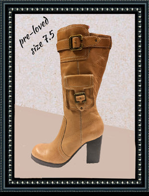 Report leather boots size 7.5 (b)