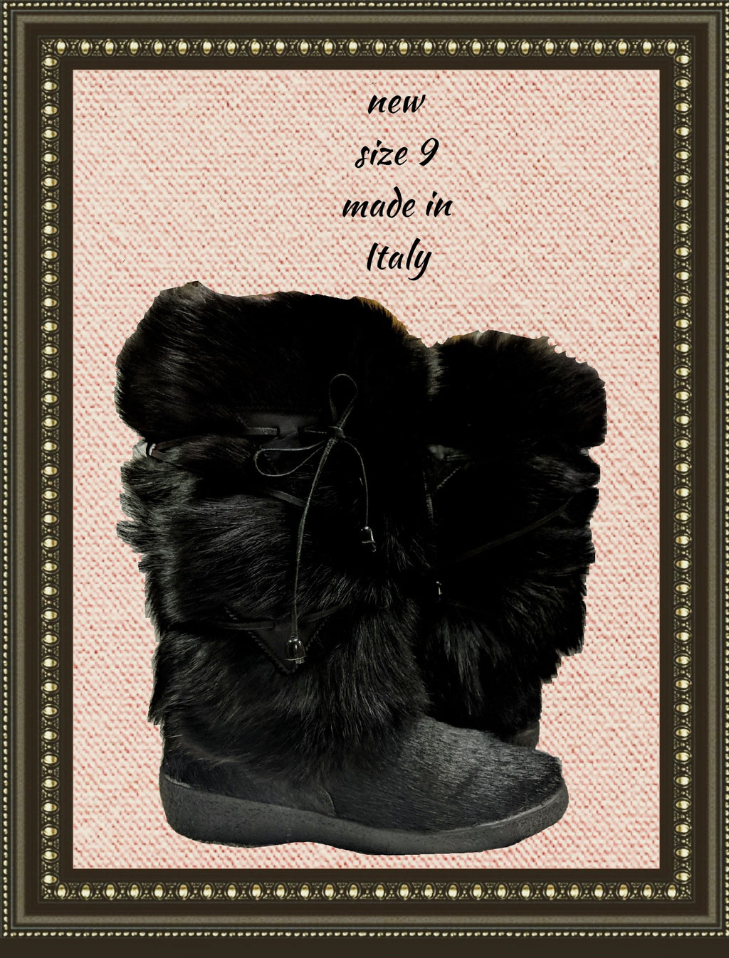 Alessia furry boots - adorable - size 9(m)