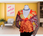 Free people top - vibrant beautiful - multiple sizes