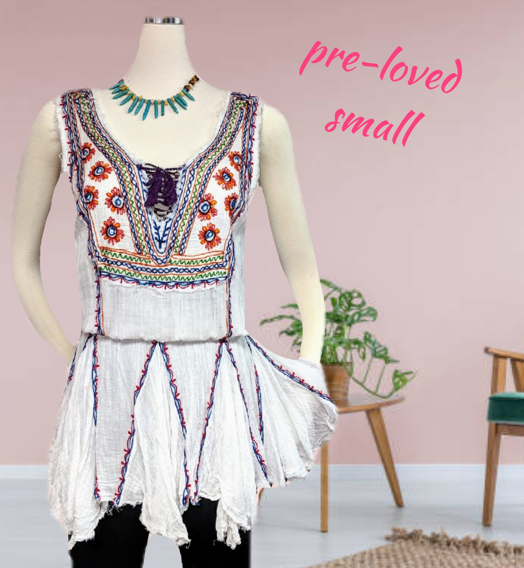 Afterwash beautiful embroidered dress/top
