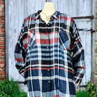 Westbound plus size plaid shirt - 2X