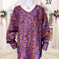 Ana sweater - beautiful colors - size 3X (b)(p)
