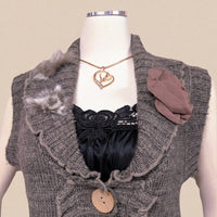 Bacci long sweater vest - absolutely beautiful - sm (b)