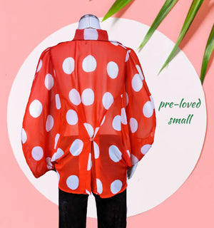 Auditions polka dot top -so cute - sm/med (m)