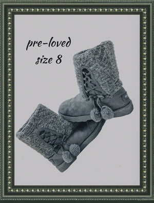 Makalu ankle booties - so cute - size 8 (b)