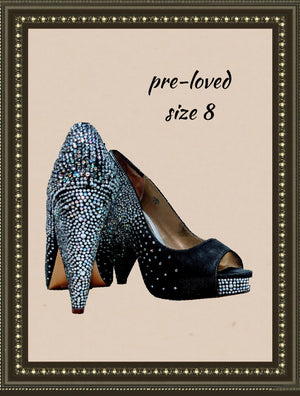Copy of Benjamin Adams shoes -  all glitz and comfy- size 8(b)