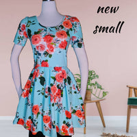 Three Pink Hearts dress- adorable and super soft -x small(b)