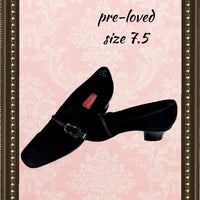 MUNRO basic black shoe - simple design - size 7.5(b)