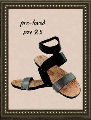 Restricted sandals  -  simple and comfy- size 9.5 (b)