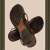 Born pumpkin spice leather sandals- quality and comfort - size 9 (b)