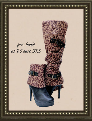 Shoe Dazzle boots - fun and comfy- size 7.5 (b)
