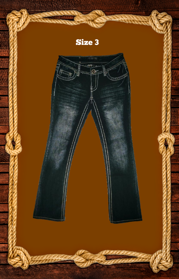 Premiere jeans slim boot size 3/4 -.
