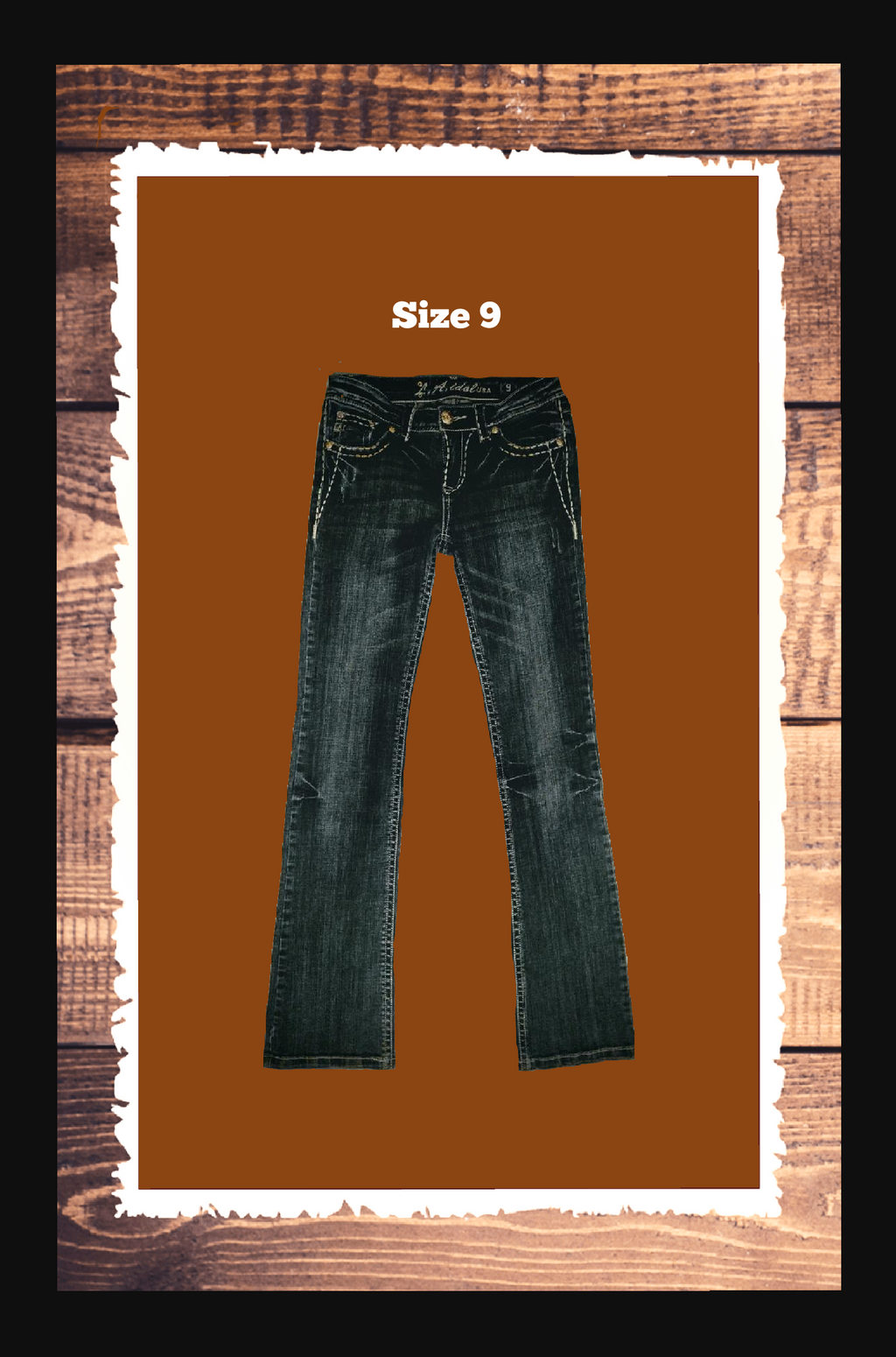 LA IDOL jeans - size 9 super cute! -.