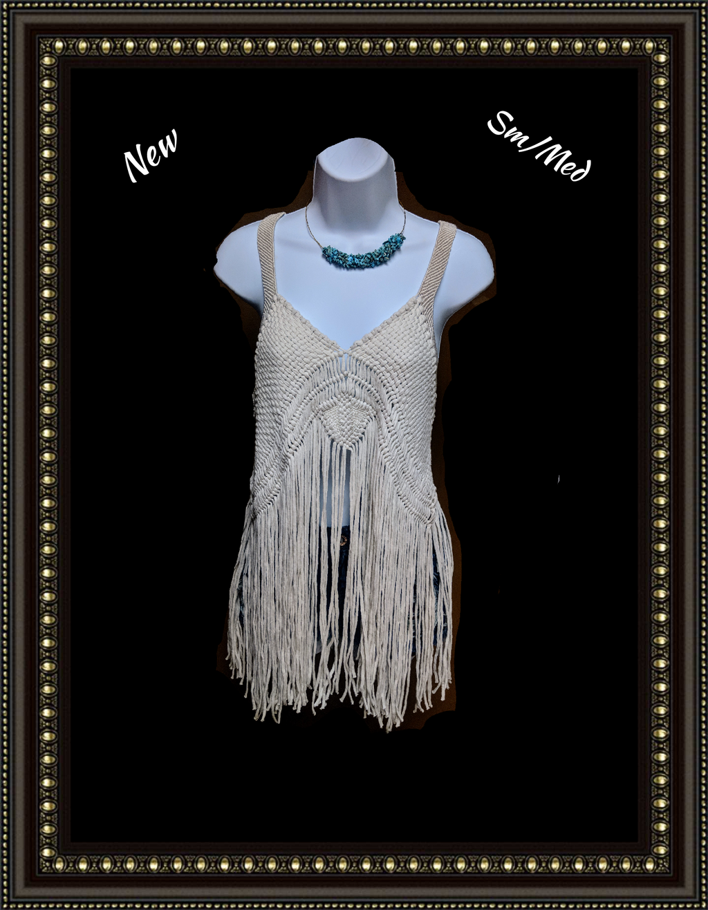 Anthropology Staring at Stars macrame top size medium