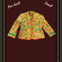 Cynthia - colorful unique jacket - small -.