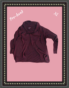 Danskin burgundy soft knit top size extra large