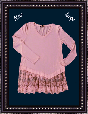 Cupio knit top size large