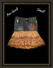 Candies  jean skirt -  cute accents -  size small