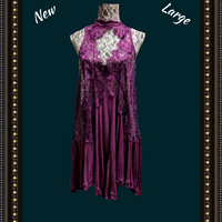 Free People plum dress, beautiful lace and color- makes a statement!