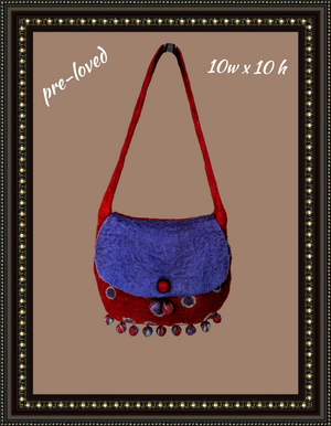 Adorable cloth handbag - fun for any occasion (b)