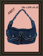 Betseyville handbags- adorable jean material with accents