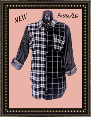 Westbound plaid top- CUTE! Great deal!