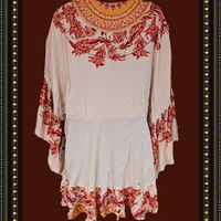 Free People hippie tunic top - size small - beautiful!