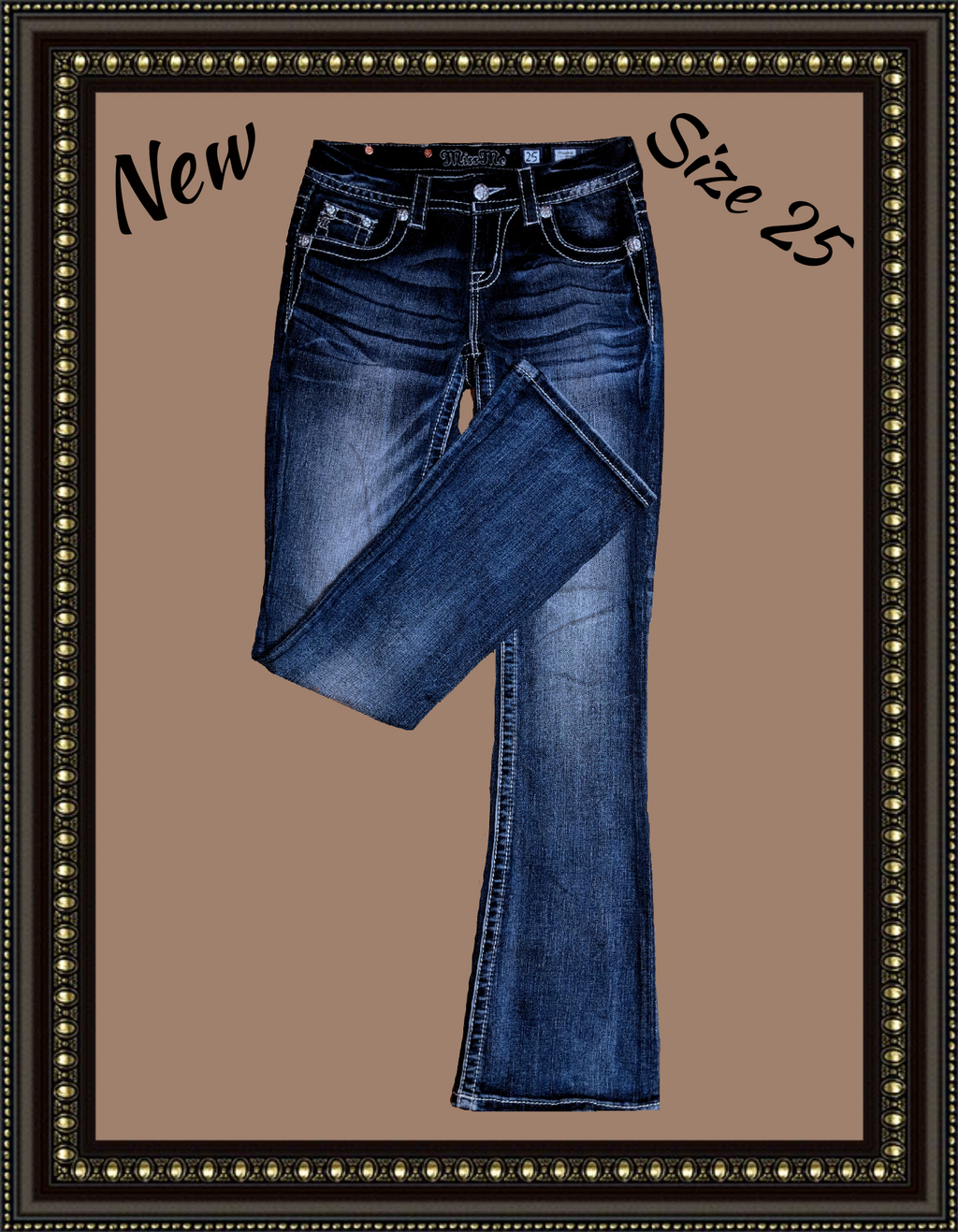 Miss Me boot cut jeans-too cute! Size 25
