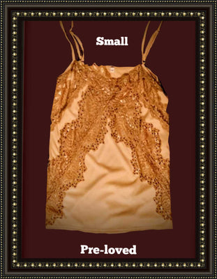 Willow and Clay  peach cami  size  small #