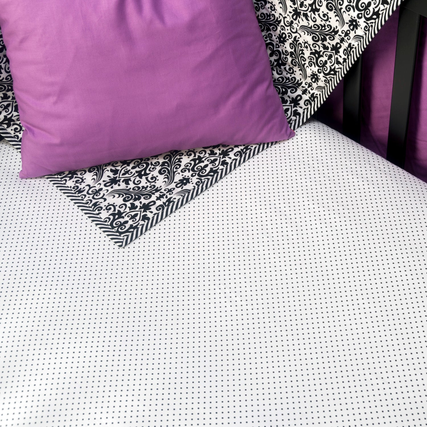 Cotton Fitted Crib Sheet - Polka Dot