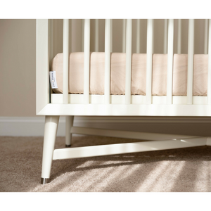 Cotton Fitted Crib Sheet - Ivory