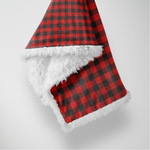 Classic Plaid Sherpa Blanket - Red and Black Plaid