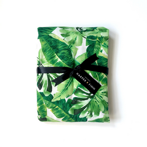 Cotton Fitted Crib Sheet - Palm Springs