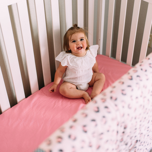 Cotton Fitted Crib Sheet - Rose Pink