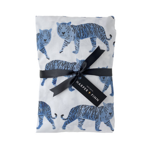 Cotton Fitted Crib Sheet - Watercolor Tigers