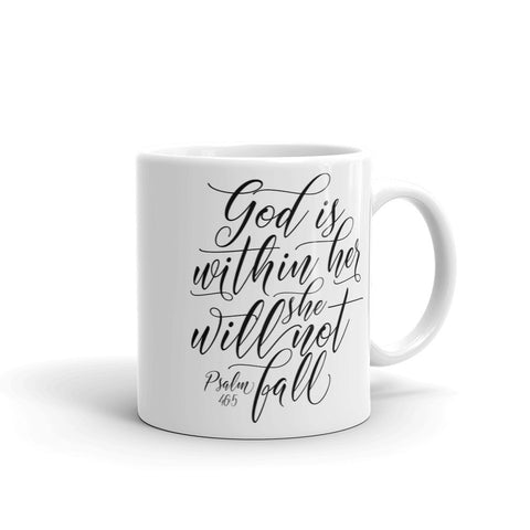 God Is Within Her Mug